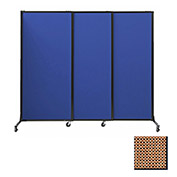 "Portable Acoustical Partition Panels, Sliding Panels, 80""x7' Fabric, Latte"