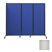 "Portable Acoustical Partition Panels, Sliding Panels, 80""x7' Clear"