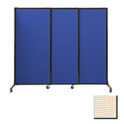 "Portable Acoustical Partition Panels, Sliding Panels, 88""x7' Fabric, Sand"