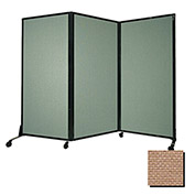 "Portable Acoustical Partition Panel, AWRD  70""x8'4"" Fabric, Beige"