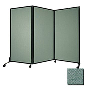 "Portable Acoustical Partition Panel, AWRD  70""x8'4"" Fabric, Blush Green"