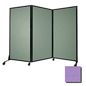 "Portable Acoustical Partition Panel, AWRD  70""x8'4"" Fabric, Purple"