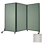 "Portable Acoustical Partition Panel, AWRD  70""x8'4"" Clear"
