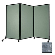 "Portable Acoustical Partition Panel, AWRD  80""x8'4"" Fabric, Powder Blue"
