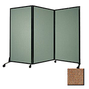 "Portable Acoustical Partition Panel, AWRD  80""x8'4"" Fabric, Latte"