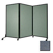 """Portable Acoustical Partition Panel, AWRD  80""""x8'4"""" Fabric, Ocean"""