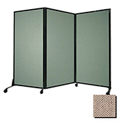 """Portable Acoustical Partition Panel, AWRD  80""""x8'4"""" Fabric, Rye"""