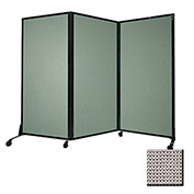 """Portable Acoustical Partition Panel, AWRD  80""""x8'4"""" Fabric, Slate"""