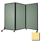 """Portable Acoustical Partition Panel, AWRD  80""""x8'4"""" Fabric, Yellow"""