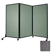 "Portable Acoustical Partition Panel, AWRD  80""x8'4"" Gray"