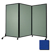 "Portable Acoustical Partition Panel, AWRD  88""x8'4"" Fabric, Royal Blue"