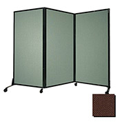 "Portable Acoustical Partition Panel, AWRD  88""x8'4"" Fabric, Chocolate Brown"