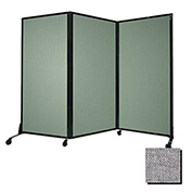 "Portable Acoustical Partition Panel, AWRD  88""x8'4"" Fabric, Cloud Gray"