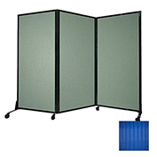 "Portable Acoustical Partition Panel, AWRD  88""x8'4"" Blue"