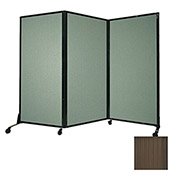 "Portable Acoustical Partition Panel, AWRD  88""x8'4"" Brown"