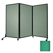 "Portable Acoustical Partition Panel, AWRD  88""x8'4"" Green"