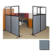"Partition Panels with Windows - No Assembly, 70"", 1 Partition Panel, Powder Blue"