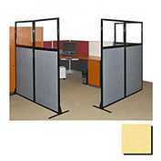 "Partition Panels with Windows - No Assembly, 70"", 1 Partition Panel, Yellow"