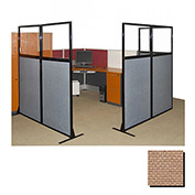 "Partition Panels with Windows - No Assembly, 70"", 2 Partition Panel, Beige"