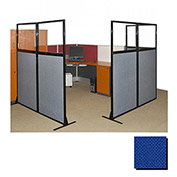 "Partition Panels with Windows - No Assembly, 70"", 2 Partition Panel, Royal Blue"