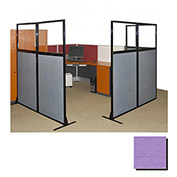 "Partition Panels with Windows - No Assembly, 70"", 2 Partition Panel, Purple"