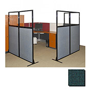 "Partition Panels with Windows - No Assembly, 70"", 3 Partition Panel, Forest Green"