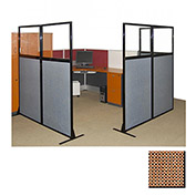 "Partition Panels with Windows - No Assembly, 70"", 3 Partition Panel, Latte"