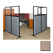 "Partition Panels with Windows - No Assembly, 70"", 3 Partition Panel, Rye"