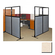 "Partition Panels with Windows - No Assembly, 70"", 3 Partition Panel, Sand"