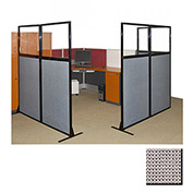 "Partition Panels with Windows - No Assembly, 70"", 3 Partition Panel, Slate"