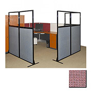 "Partition Panels with Windows - No Assembly, 70"", 3 Partition Panel, Wine"