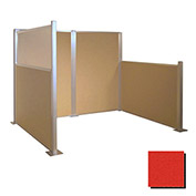 Hush Partition Panel 4x4 Red