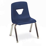 Virco® 2014 Medium Plastic Classroom Chair, Navy With Chrome Frame - Pkg Qty 4