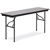 "Virco® Laminate Folding Table - 18""x60"" - Black with Gray Top"