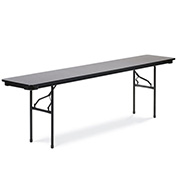 "Virco® 601896 Traditional Folding Table 18""x96"", Black with Gray Top"