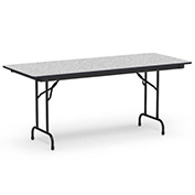 "Virco® Laminate Folding Table - 30""x72"" - Black with Gray Top"