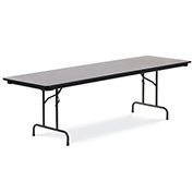 "Virco® Laminate Folding Table - 30""x96"" - Black with Gray Top"