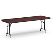 "Virco® Laminate Folding Table - 30""x96"" - Black with Walnut Top"