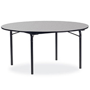"Virco® Laminate Folding Table - 60"" Round - Black with Gray Top"