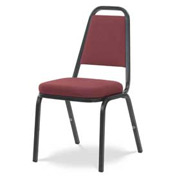 Virco® 8925 Crowned Seat Straight Back Stack Chair Black Frame/Red Fabric - Pkg Qty 4