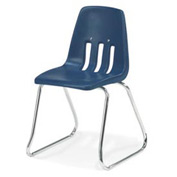 Virco® 9614 Medium Classroom Chair, Blue With Chrome Frame - Pkg Qty 4
