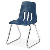 Virco® 9616 Large Classroom Chair, Blue With Chrome Frame - Pkg Qty 4