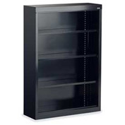 Virco® BCM3652 Metal Bookcase Three-Shelf, Black