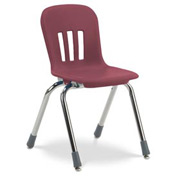 "Virco® N914 The Metaphor® Stacking Chair 14"", Wine With Chrome - Pkg Qty 5"