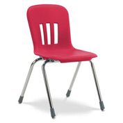 "Virco® N918 The Metaphor® Stacking Chair 18"", Red With Chrome - Pkg Qty 4"