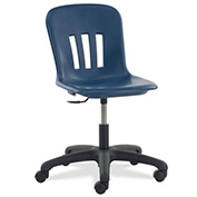 Virco® N9TASK18 Metaphor® Mobile Chair, Navy Seat
