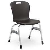 "Virco® Sg418 The Sage™ 4 Leg Stacking Chair 18"", Black With Chrome - Pkg Qty 4"