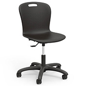 "Virco® SGTASK18 The Sage™ Task Chair 18"", Black with Black Base"