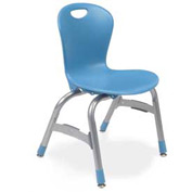 "Virco Zu413 The Zuma Stacking Chair 13"", Blue With Chrome Package Count 5 by Virco"