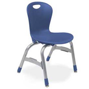 "Virco Zu413 The Zuma Stacking Chair 13"", Navy With Chrome Package Count 5"